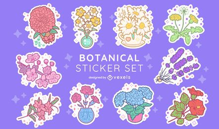 Flower arrangement nature sticker set