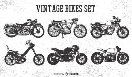Vintage motorcycle transportation set