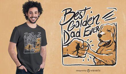 El mejor diseño de camiseta de papá dorado