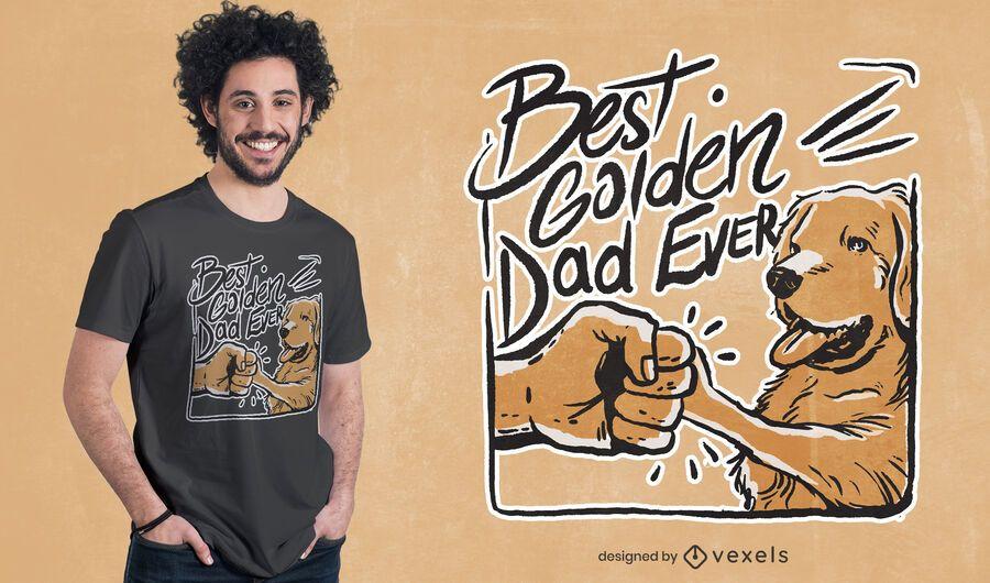Best golden dad ever t-shirt design
