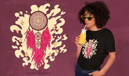 Diseño de camiseta Dreamcatcher moon