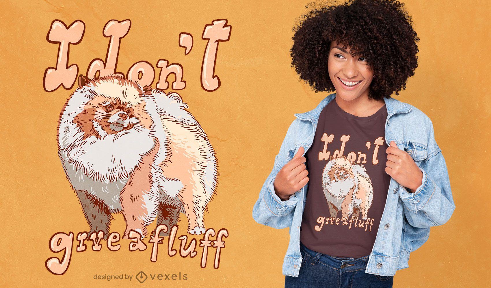 Design de camiseta com citações fofas de cachorro da Pomerânia