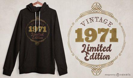 Diseño de camiseta vintage de edición limitada.