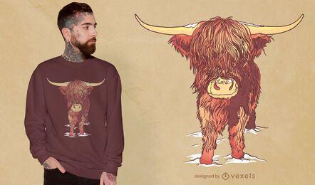 Highland cattle t-shirt design
