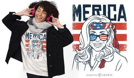 Diseño de camiseta patriótica de Kamala Harris