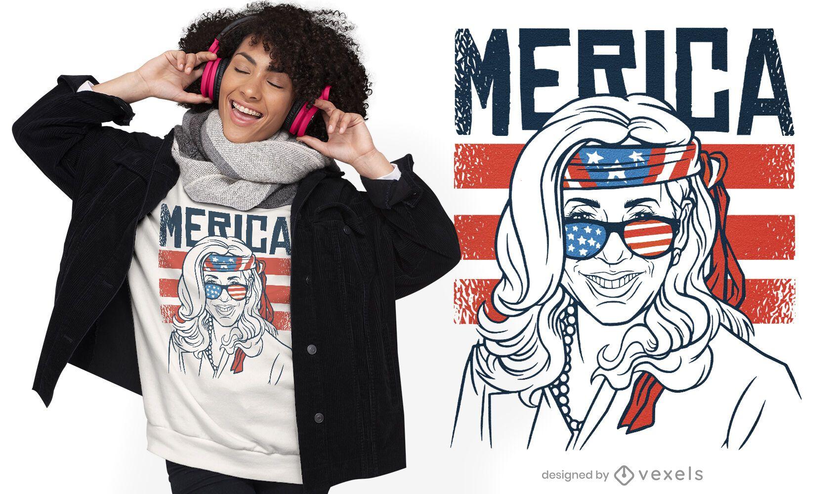 Patriotisches Kamala Harris T-Shirt Design