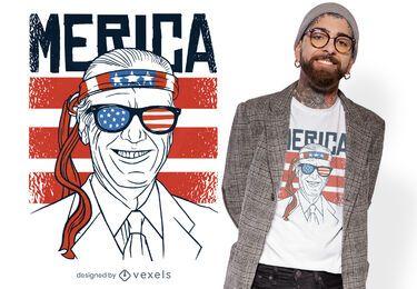 Design de t-shirt vintage com bandeira americana biden