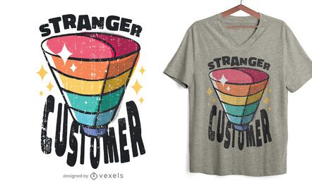 Funnel customer metaphor t-shirt design