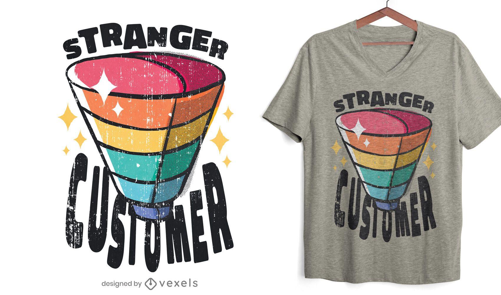 Funnel customer metaphor t-shirt design