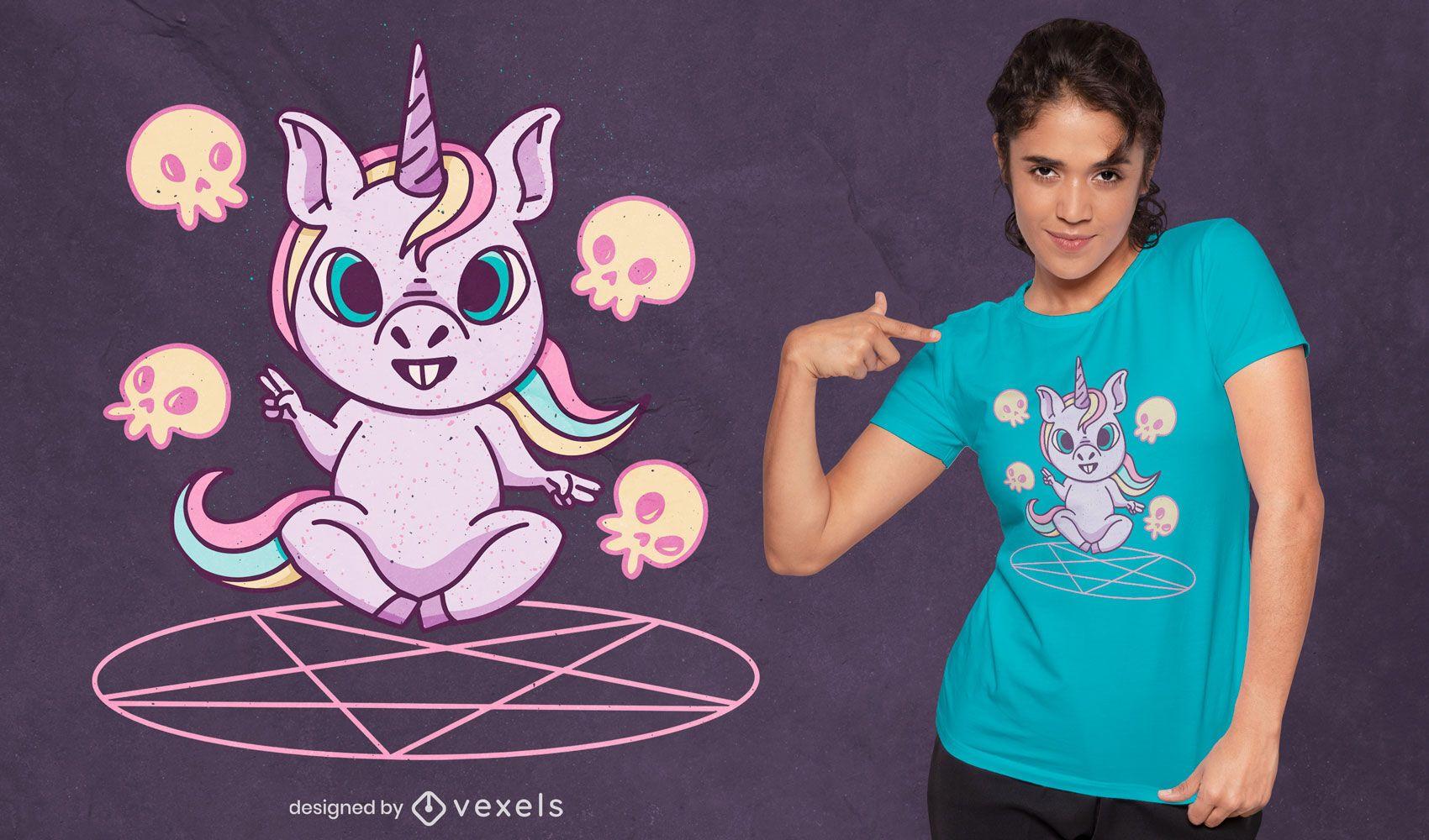 Unicorn summoning ritual t-shirt design