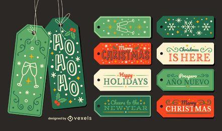 Weihnachtsfeiertag hängen Tags Geschenkset