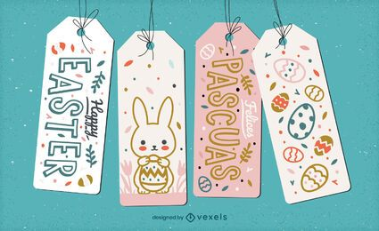 Cute easter holiday hang tag gift set