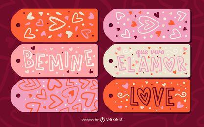 Valentine day holiday hang tag gift set