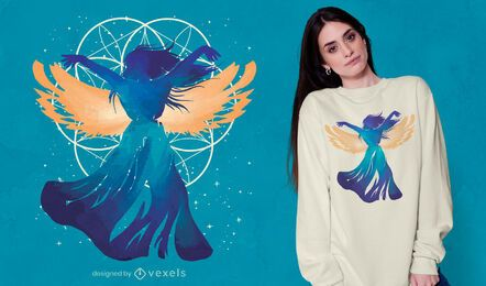 Engel Frau Fantasie T-Shirt Design