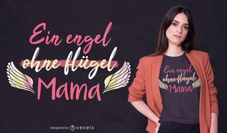 Design de camiseta com citação de anjo para o dia das mães