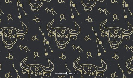 Stier Zeichen Horoskop Muster Design