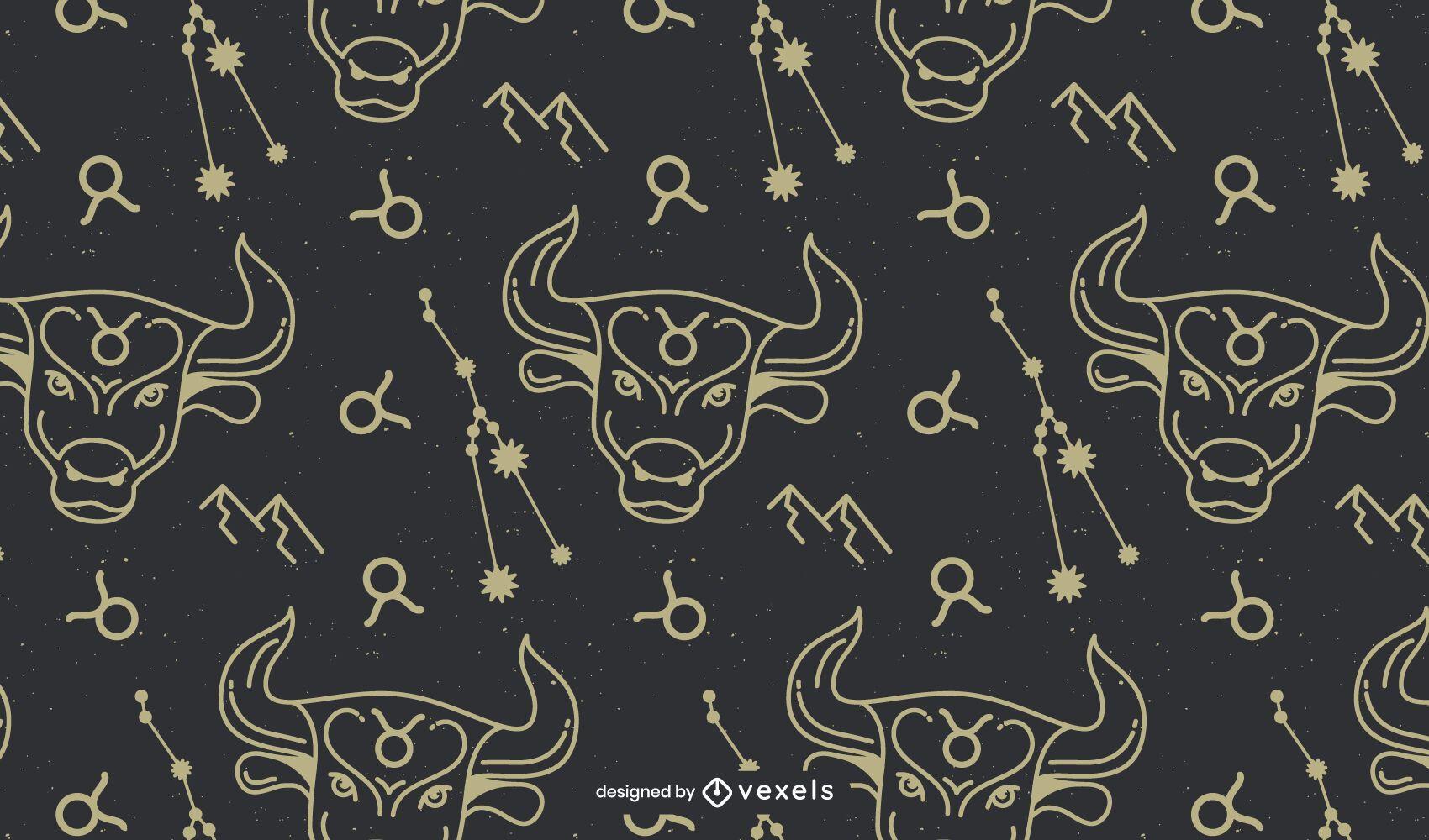 Taurus sign horoscope pattern design