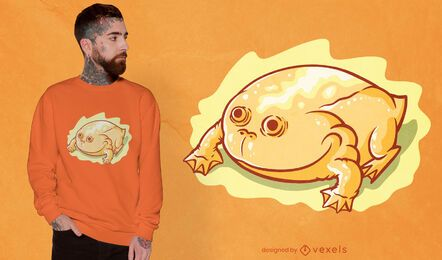 Design de camiseta de sapo amarelo brilhante