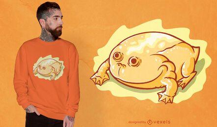 Yellow glossy frog t-shirt design