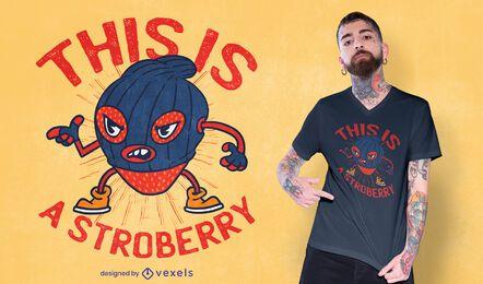 Design de camiseta engraçada para ladrão de morango