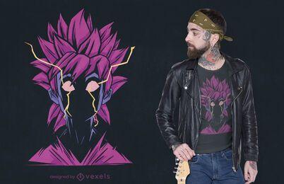 Anime Mann macht T-Shirt Design