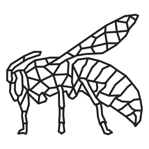 Standing bee polygonal