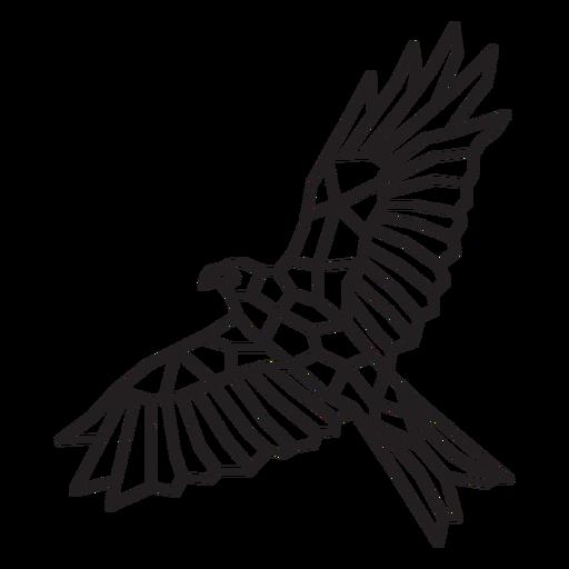 Flying bird polygonal