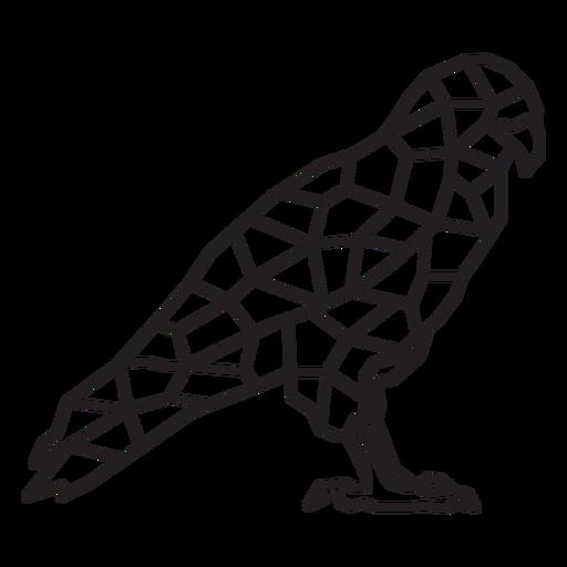Bold eagle polygonal
