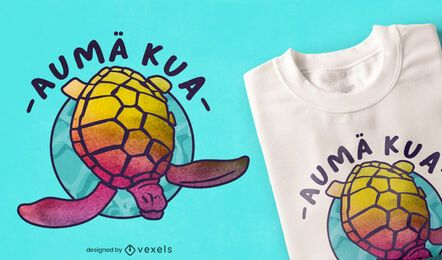 Turtle hawaiian tie dye t-shirt design