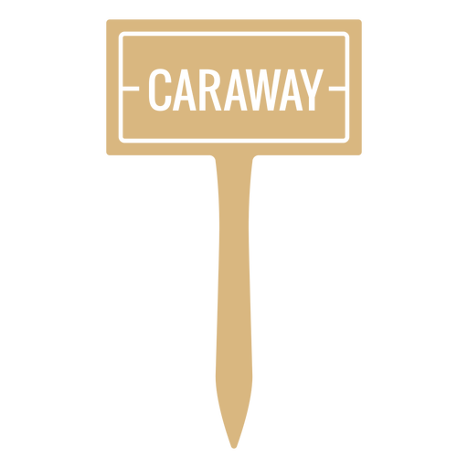 Caraway sign cut out
