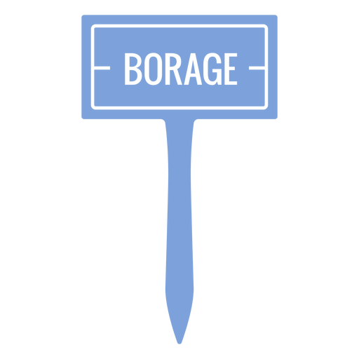 Borage sign cut out