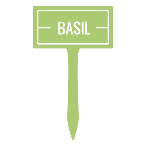 Basil sign cut out
