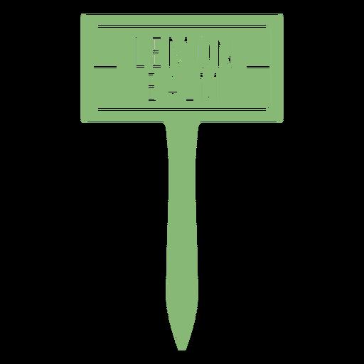 Lemon balm sign cut out