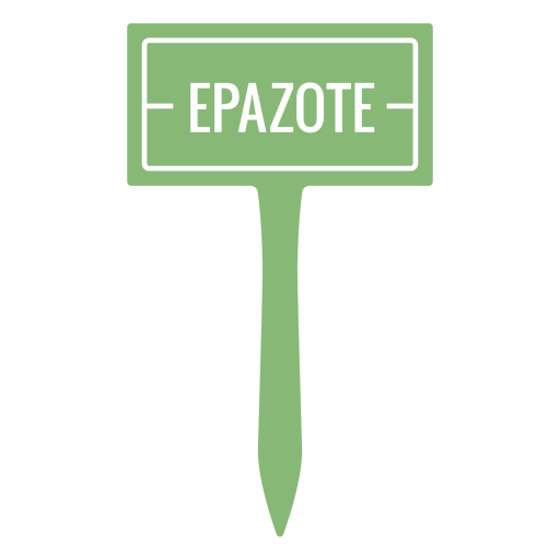 Epazote sign cut out