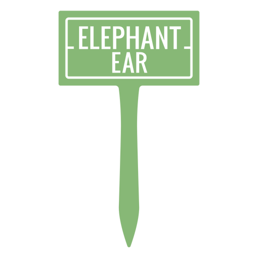 Elephant ear sign cut out