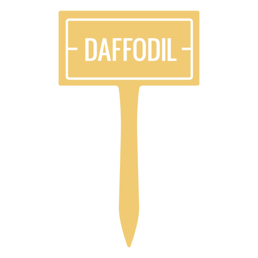 Daffodil sign cut out