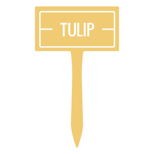 Tulip sign cut out