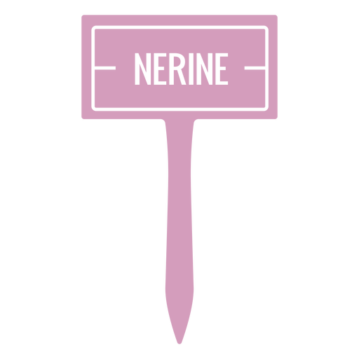 Nerine sign cut out