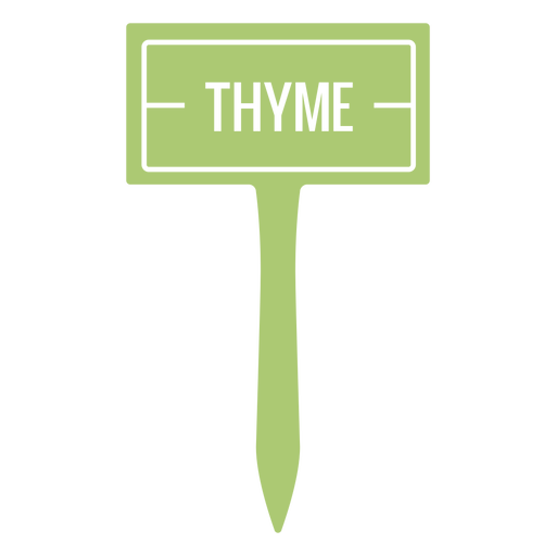 Thyme plant name sign