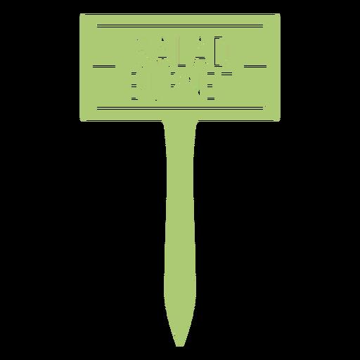 Salad burnet plant sign