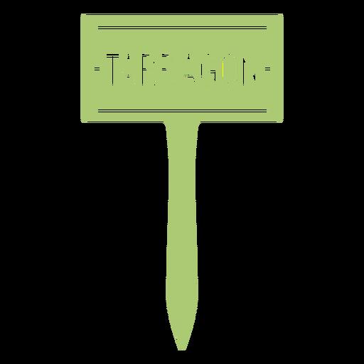 Flower tarragon nature sign