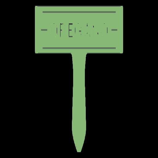 Oregano sign cut out