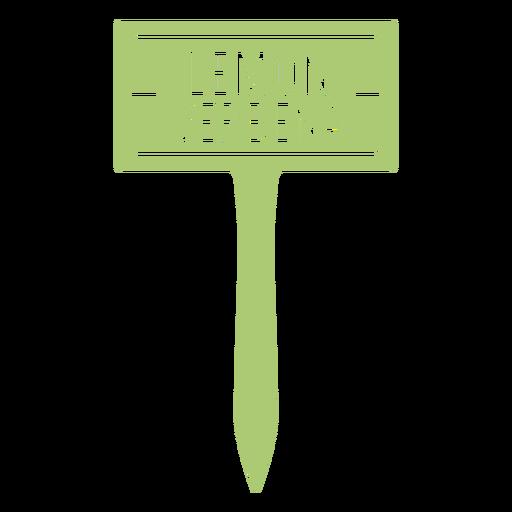 Lemon verbena sign cut out