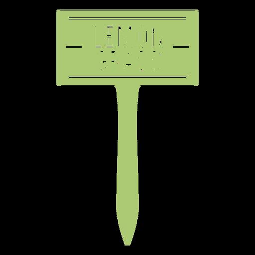 Lemon grass sign cut out