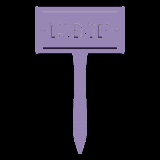 Lavender sign cut out