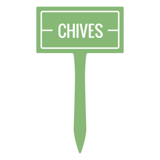 Chives sign cut out