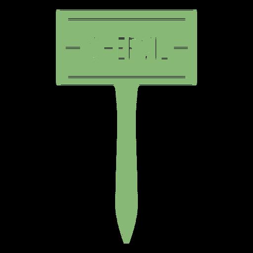 Chervil sign cut out