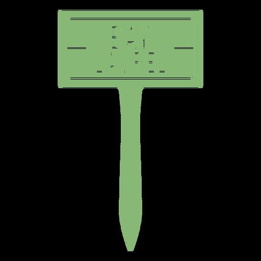 Bay laurel sign cut out