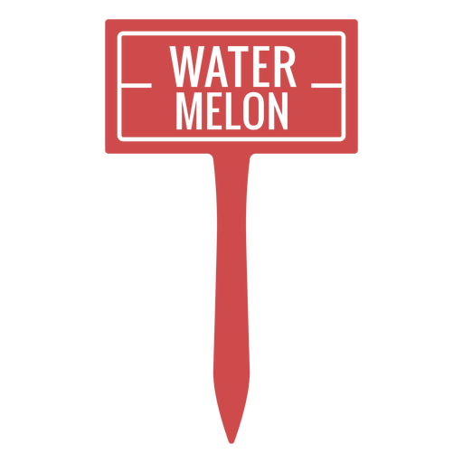 Watermelon sign cut out