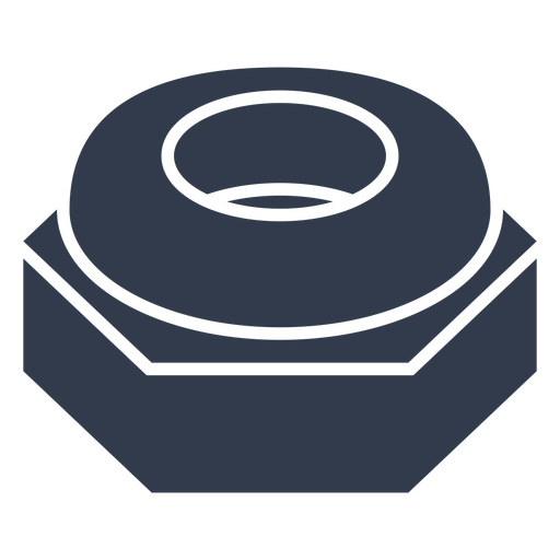 Blue nylon insert lock nut cut out